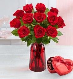 One Dozen Romantic Red Roses