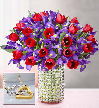 Deluxe Bunches of Love Tulip & Iris