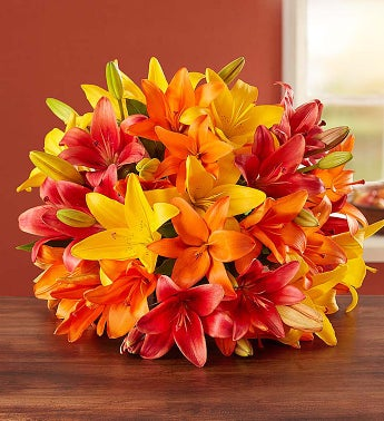 Autumn Lilies Double Bouquet