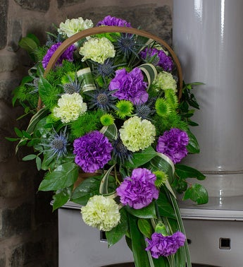 Purple and Lime Basket