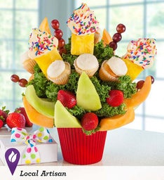 Hey there, Cupcake Vanilla Fruit Bouquet!