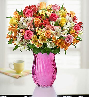 Assorted Roses & Peruvian Lilies + Free Shipping