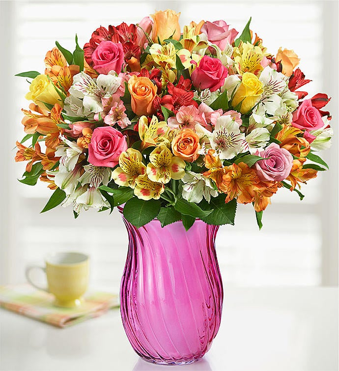 Assorted Roses & Peruvian Lilies