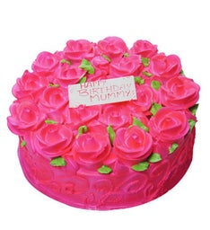 Brimming with Roses Eggless Cake
