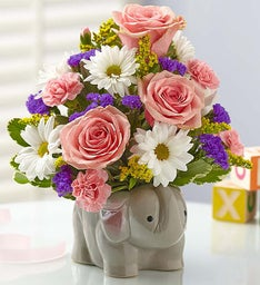 New Baby Girl Elephant Bouquet