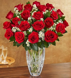 Premium Long-Stemmed Red Roses