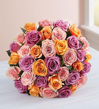 Sorbet Roses 36 Stems, Bouquet Only