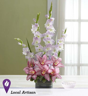 Simply Divine Gladiolus and Orchid Arrangement