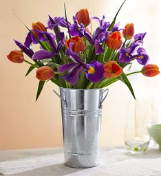 Tulip & Iris for Fall + Free Vase