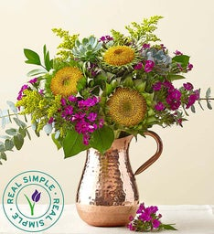 Succulent Sunflower Bouquet by Real Simple®