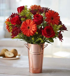 Rose & Gerbera Daisy Bouquet for Fall