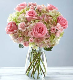 Premium Rose and Hydrangea Bouquet for Sympathy