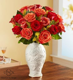 Autumn Sunset Bouquet in Lenox® Vase