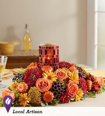 Pumpkin Harvest Centerpiece Large