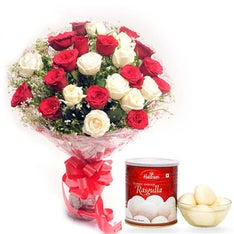 Mix Flowers N Sweets - Diwali Gift