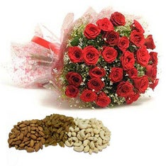 Dry Fruits & Rose Bouquet - Diwali gift
