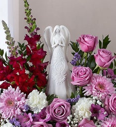 Serenity Angel Arrangement™ Lavender and White