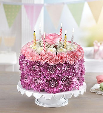 Birthday Wishes Flower Cake® Pastel