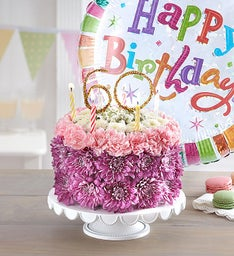 Birthday Wishes Flower Cake Pastel – Milestone