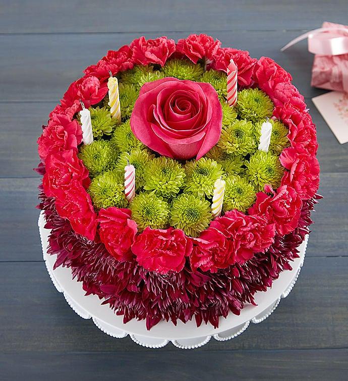 Birthday Wishes Flower Cake Purple 1800Flowerscom 148668