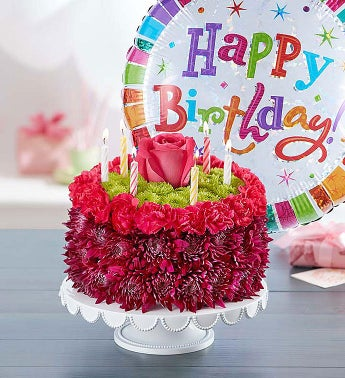 Birthday Wishes Flower Cake Purple 1800Flowerscom 148668