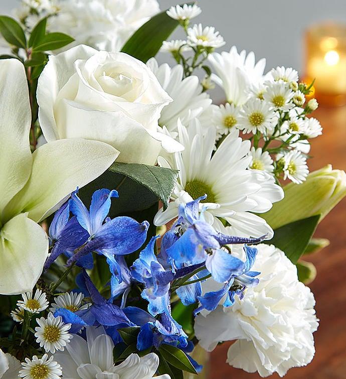 Healing tears blue white 1800flowers 148683 148683altview mightylinksfo