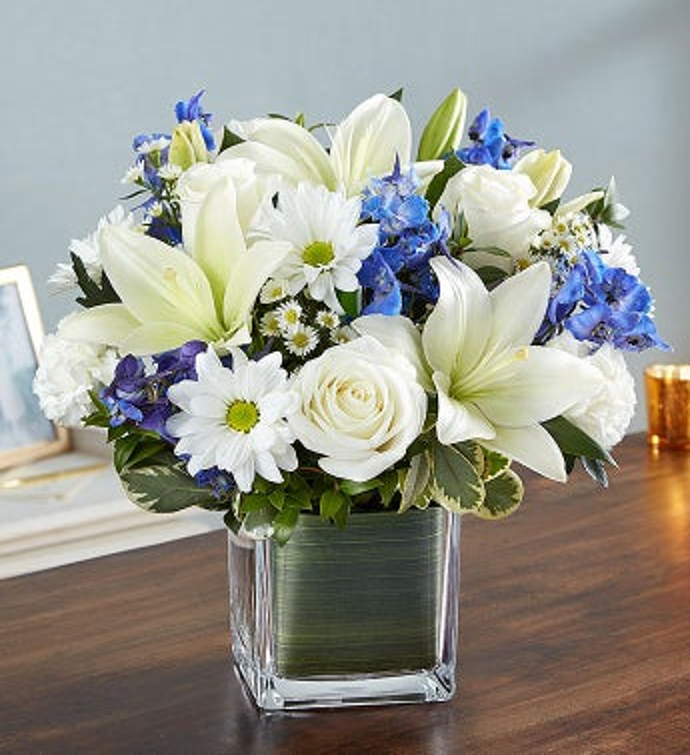 Healing tears blue white 1800flowers 148683 healing tears blue white mightylinksfo