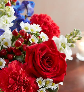 Healing tears red white blue 1800flowers 148689 healing tears red white blue 148689altview mightylinksfo Gallery