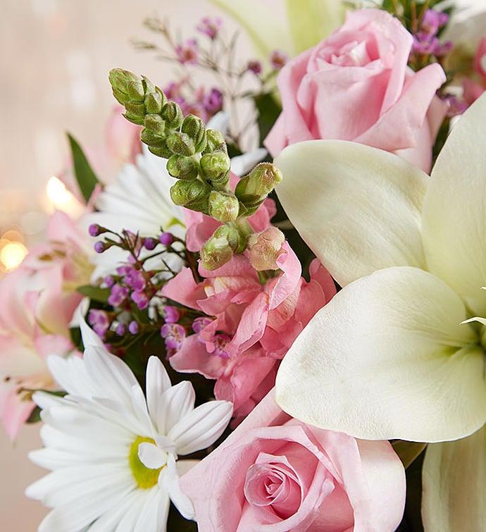 Healing tears pink white 1800flowers 148691 148692altview mightylinksfo