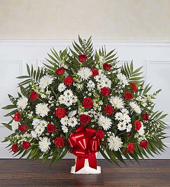 Heartfelt Tribute™ Floor Basket- Red & White