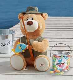 Animated 'Fishin' Flynn' Bear