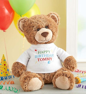 "Personalized Tommy Teddy ""Celebrate!"" Personalized Tommy Teddy"