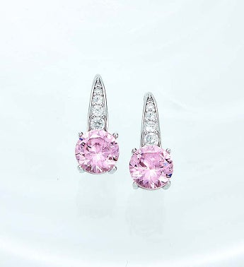 Crislu® Pink Serenity Earrings
