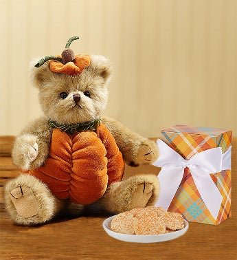 Bearington® Fall Pumpkin Bear with Cheryl's® Cookies