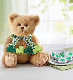 Bearington® St Patrick's Bear & Shamrock Chocolates
