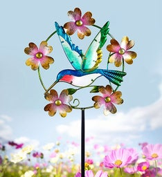 Hummingbird Kinetic Garden Stake