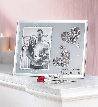 personalized love frame and keepsake rose 1800flowers com 155142