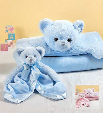 Bearington® Teddy Bear Baby Mat and Snuggler