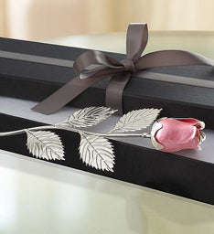 Keepsake Silver Plated Rose