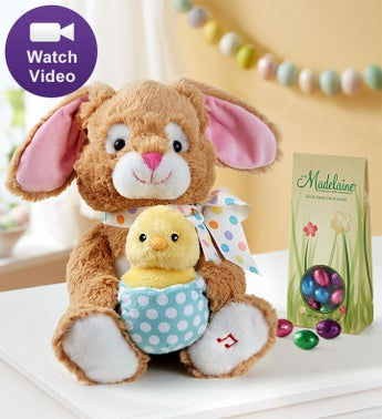 Animated Bunny And Chocolate Eggs