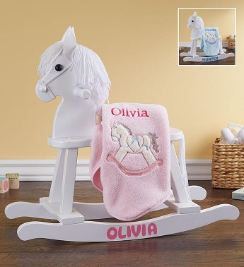 Personalized Rocking Horse Gift Set