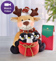 Animated Season's Greetings Reindeer