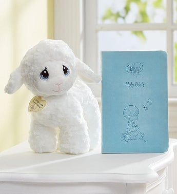 Precious Moments® Luffie Lamb with Blue Bible