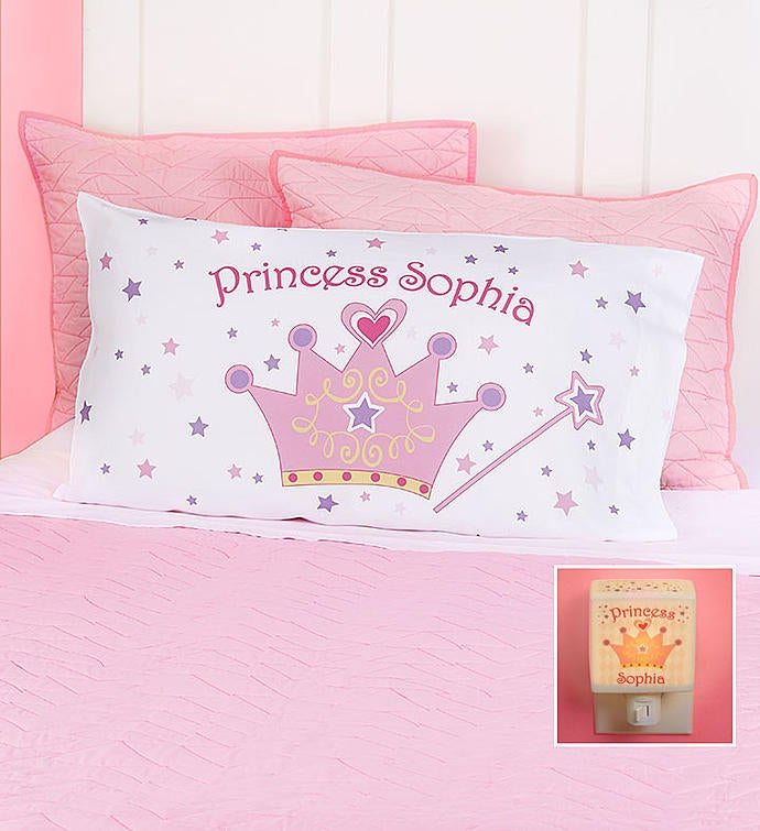 Personalized Princess Pillowcase & Nightlight