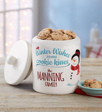 Cheryl's® Personalized Winter Cookie Jar