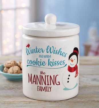Cheryls Personalized Winter Cookie Jar