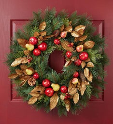 Keepsake Holiday Charm Fruit Wreath - 30