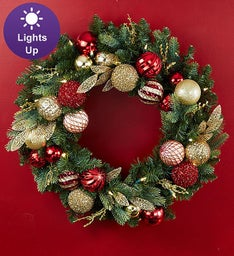 Shimmering Holiday Ornament Wreath