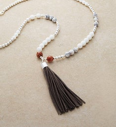 Beaded Tassel Necklace by Bayberry Road