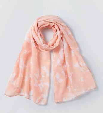 Coral Butterfly Scarf by Bayberry Road